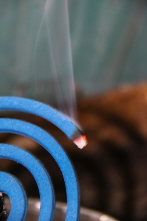 Mosquito repellent smoke   photo