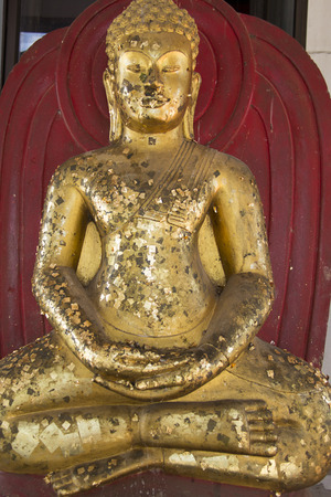 dogma: Buddha statue was closed gold.