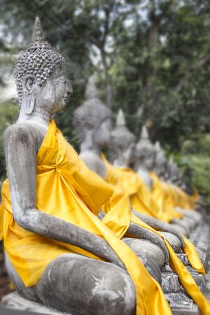presumption: Old buddha statue in temple , Thailand