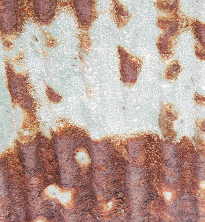 corrosion: Zinc with the corrosion