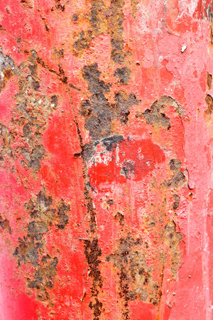 corrosion: Dust stain and corrosion on the red steel pole