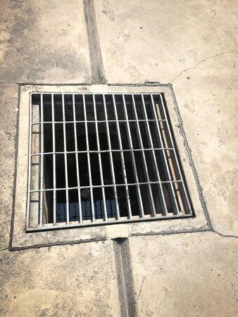 putrid: Sewer on the street