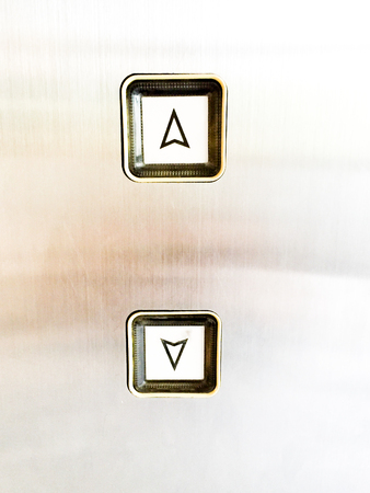 up and down: Up down button of elevator Stock Photo