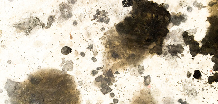 cement floor: Dirty oil stain Cement floor texture Stock Photo