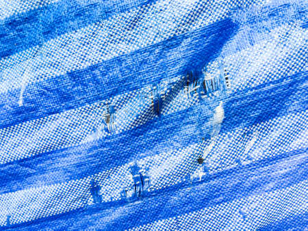ravel: disastrously blue fabric texture Stock Photo