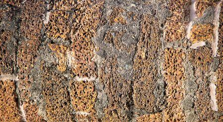 porous brick: Old brick hole, with many porous