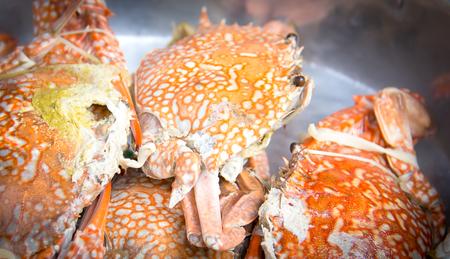 Orange yellow crab boil .