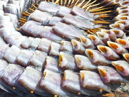 bask: fish sunbath on the sea Stock Photo