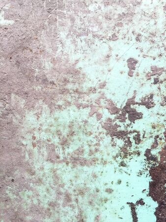 corrosion: grunge dirty corrosion  stain on the old green steel
