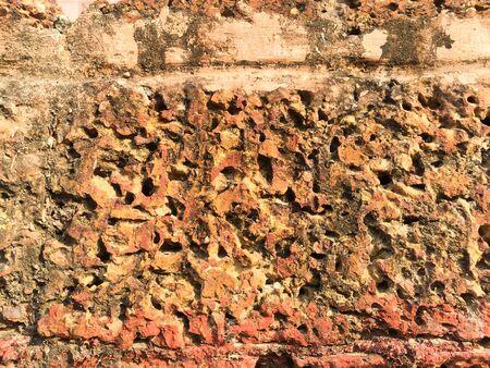 porous: Rough porous grunge brick texture background