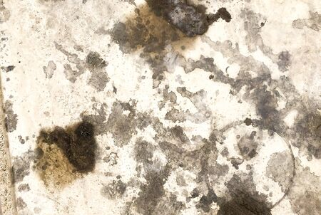 stain: Dirty oil stain Cement floor texture Stock Photo