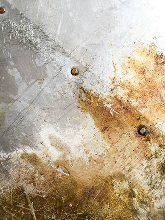 corrosion: Grunge dirty corrosion stain on the old steel