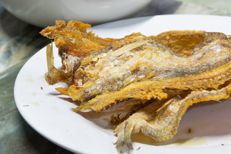 dry fish: Dry fish fried with hot oil for crisp