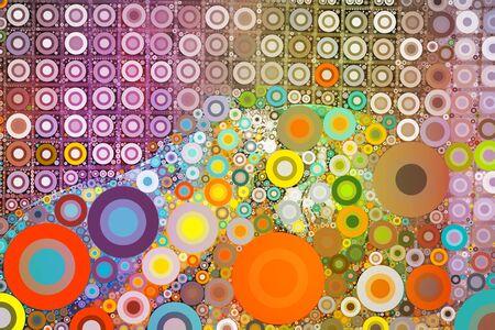 circle shape: Abstract colorful circle shape dot background