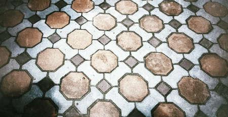 diamond shape: Brick diamond shape on the floor background
