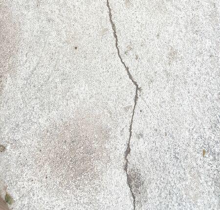 fissure: Crack ciment Banque d'images