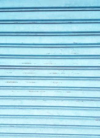 steel door: Horizontal blue steel door