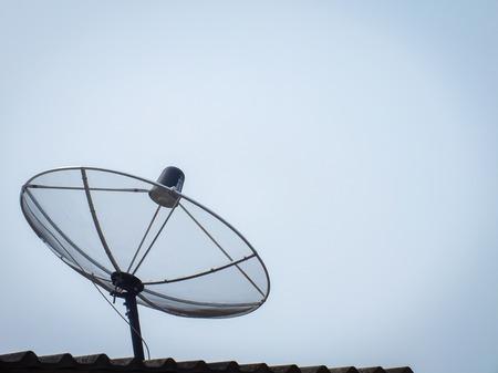 sattelite: Sattelite on the roof