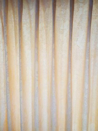 corrugate: Soft yellow curtain