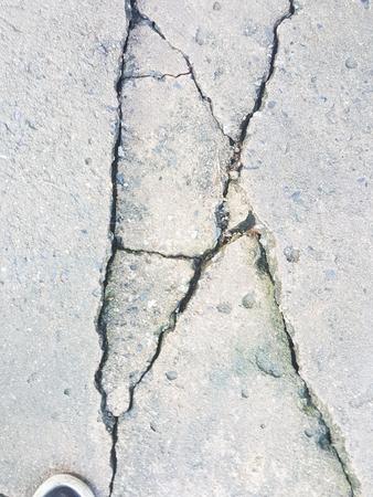parting: crack cement concrete floor background Stock Photo