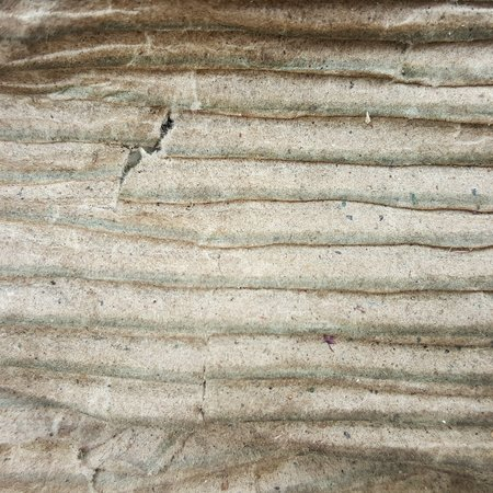 severely: old corrugated texture