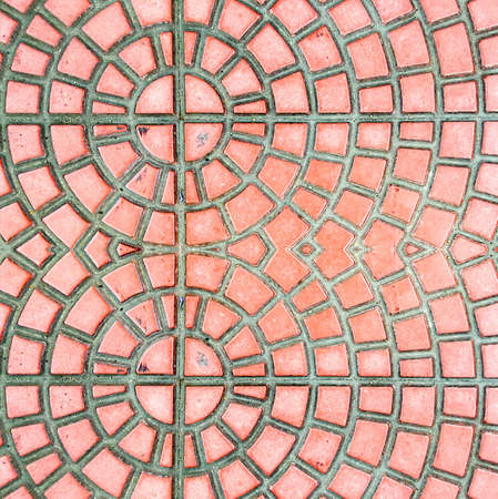 tile: red tile texture Stock Photo