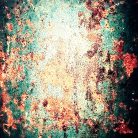 strong skeleton: corrosion and rusty on the old steel texture