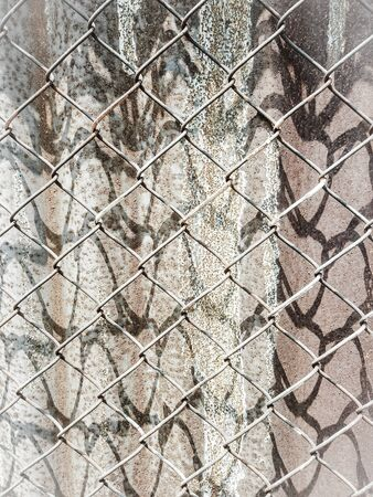 rusty background: rusty cage texture background