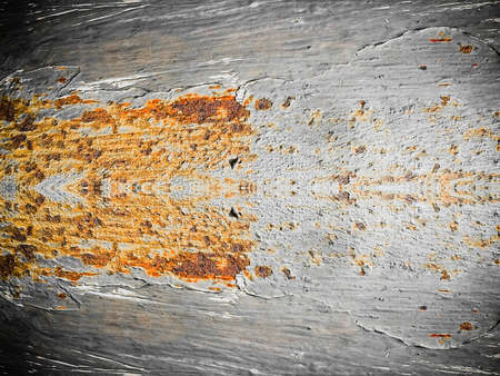 rusty corrosion stain on steel texture background Stock Photo