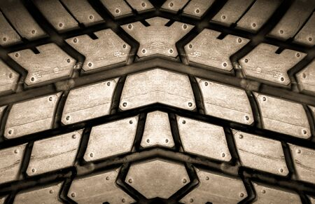tyre tread: brown tire  texture backgorund Stock Photo