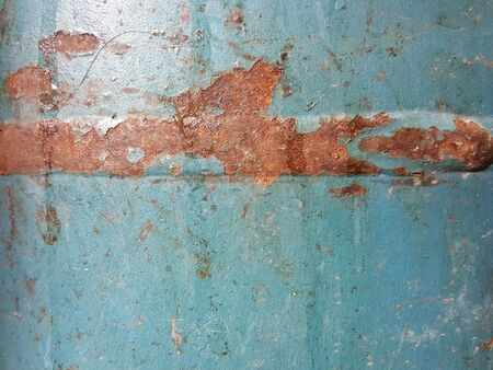 rusty stain on grunge steel texture background