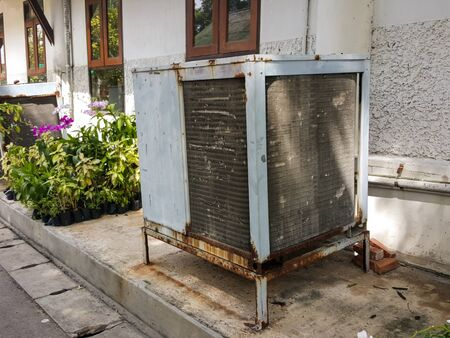 unsanitary: old grunge air conditioner