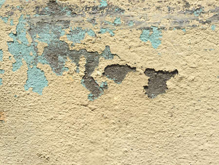 decay: decay grunge yellow concrete wall