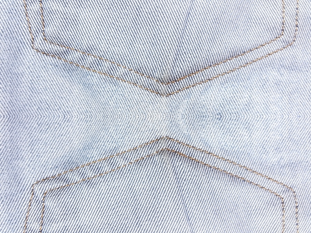 113757 jean texture with red thread Stock Photo - 75780104