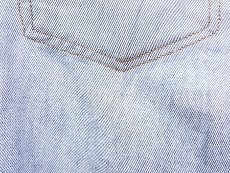 blue jean texture with red thread