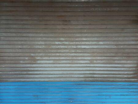 그런 지 오래 된 셔터 강철 문 스톡 콘텐츠 - 73689210