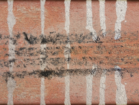 grunge dirty stain on red wood wall texture