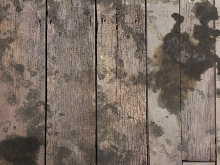 Dirty Black Oil Stain On Wood Floor Texure Stock Photo Picture And