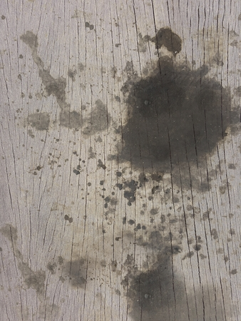 grunge dirty black oil stain wood wall texture