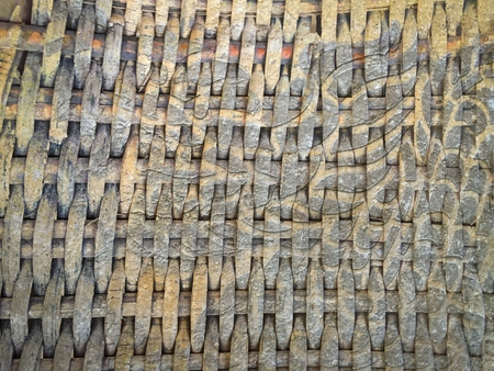 dragon stripe on old bamboo weave wood texture