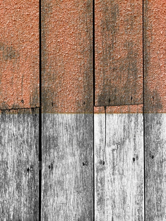 rough red white vertical wood texture Stock Photo