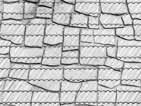 crack roof texture Stock Photo