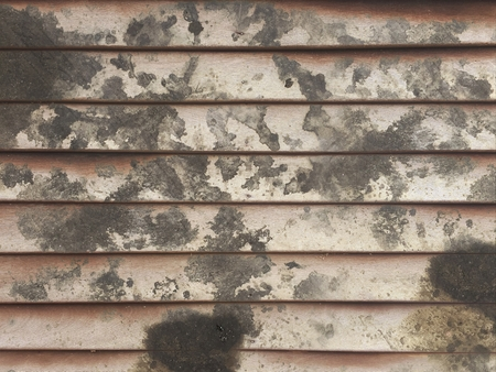 dirty black oil stain on wood wall texture Stock Photo