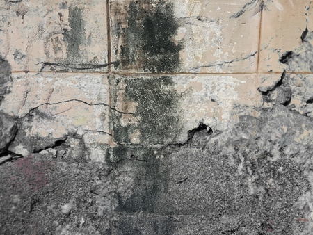 grunge crack old concrete wall texture Stock Photo