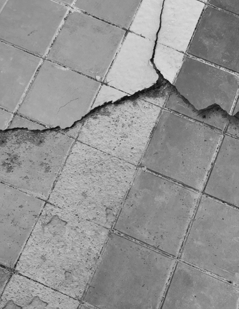 crack square tile concrete floor texture