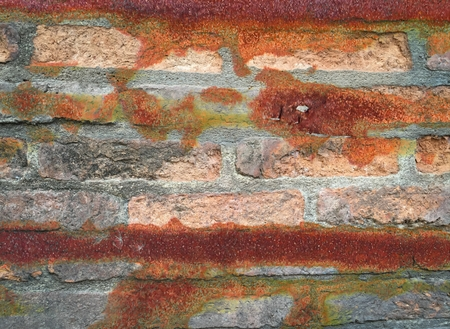 old brick wall concrete