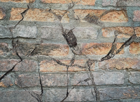 crack old brick concrete wall texture Stock Photo