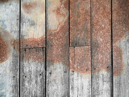 corrosion stain on vertical wood texture