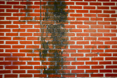 grunge dirty stain on brick wall texture