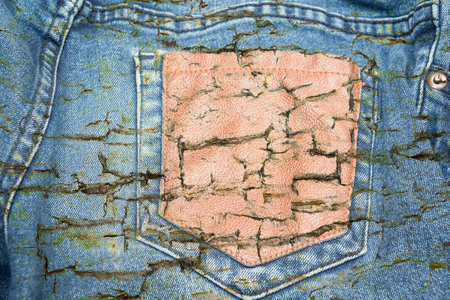 crack old jean texture